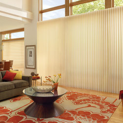 Vertical Blinds - Hunter Douglas Luminette Privacy Sheers - Saint Peters - Luminette Privacy Sheers have the look of a modern drapery but the functionality of a horizontal blind. Hunter Douglas Luminette Privacy Sheers are traditional, elegant, and functional.