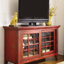 Hammary - Hidden Treasures 31 in. Entertainment Console - Wood frame glass doors. Limited warranty. 48 in. W x 19 in. D x 31 in. H