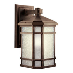 Kichler - Kichler Cameron 1-Light Prairie Rock Wall Lantern - 11019PR - This 1-Light Wall Lantern is part of the Cameron Collection and has a Prairie Rock Finish. It is Energy Efficient, Title 24 Compliant, and Outdoor Capable.