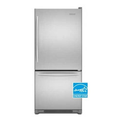 """KitchenAid - Architect II KBWS19KCMS 30"""" Bottom Freezer Refrigerator with 19 cu. ft.  Reversi - This Kitchenaid bottom freezer refrigerator has a total capacity of 19 cuft Sensors in the refrigerator and freezer help maintain temperatures to within one degree This helps ensure fresh ingredients remain at the appropriate temperature for optimum ..."""