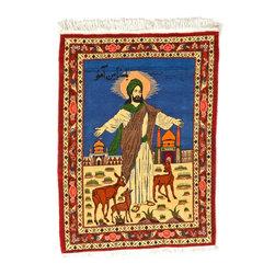 eSaleRugs - 3' 5 x 4' 9 Pictorial Bakhtiar Persian Rug - SKU: 22115562 - Hand Knotted Pictorial Bakhtiar rug. Made of Kork Wool. Brand New.
