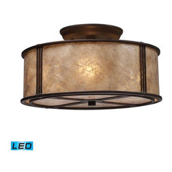 Elk Lighting - Elk Lighting 15031/3-LED Barringer Traditional Semi Flush Mount Ceiling Light - Elk Lighting 15031/3-LED Barringer Traditional Semi Flush Mount Ceiling Light in Aged Bronze
