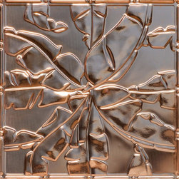 """Decorative Ceiling Tiles - Rainforest Canopy - Copper Ceiling Tile - 24""""x24"""" - #2492 - Find copper, tin, aluminum and more styles of real metal ceiling tiles at affordable prices . We carry a huge selection and are always adding new style to our inventory."""