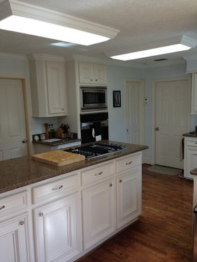 Kitchen lighting help needed - what can I replace the fluorescent ...