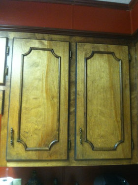 What can I do to update these cabinet doors for cheap?