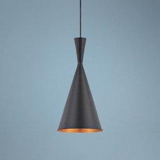 "Bronx 7 1/2"" Wide Black Pendant Light - #U3434   LampsPlus.com"
