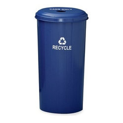 Witt Industries Can Collector 22 Gallon Blue Recycling Bin