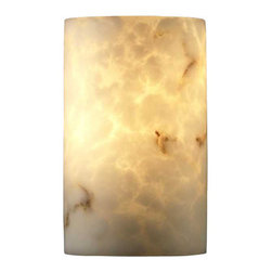 Justice Design Group - Justice Design Group FAL-0945 2 Light Faux Alabaster Wall Sconce from the LumenA - Justice Design Group FAL-0945 Wall Sconce