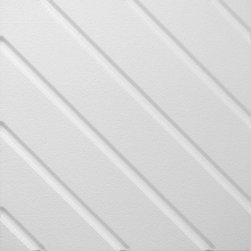 IDS Group - 2x2 White Decorative Ceiling Tiles, Phoenix Design - Total Coverage: 32 SqFt (Box of 8)
