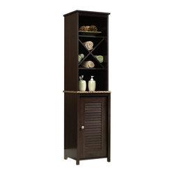 Sauder - Sauder Peppercorn Linen Tower in Cinnamon Cherry - Sauder - Bathroom Cabinets - 414034 -