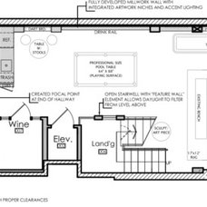 Contemporary Floor Plan Basement of the Week: Trains, Skateboards and Games ----