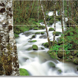 Picture-Tiles, LLC - River Picture Kitchen Tile Mural R025 - * MURAL SIZE: 18x24 inch tile mural using (12) 6x6 ceramic tiles-satin finish.