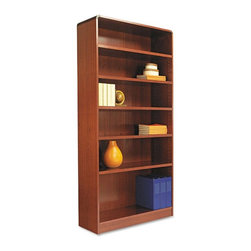 Alera - Alera BCR67236MC Aleradius Corner Wood Veneer Bookcase - Medium Cherry Multicolo - Shop for Bookcases from Hayneedle.com! About AleraWith the goal of meeting the needs of all offices -- big or small casual or serious -- Alera offers an excellent line of furnishings that you'll love to see Monday through Friday. Alera is committed to quality innovative design precision styling and premium ergonomics ensuring consistent satisfaction.