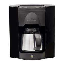 Brew Express - 4 Cup Recessed Coffee Maker - BE-104C-110-B/KIT - Making the perfect cup of coffee is now as simple as ever. With the award winning 4 cup Brew Express, simply pour in the coffee grounds, push the on/off button on the base, and let the automated system take care of the rest. The unit is attached to your home's water supply through a refrigerator or under-sink supply line, and is hard wired to your home's power supply. You never have to measure the correct amount of water again. The water is spread evenly over the coffee grounds to ensure a consistent brew every time and brews the coffee in half the time of conventional coffee makers. A built-in pause-n-brew infrared sensor prevents overflows and allows you to remove the carafe or mug at any time, without the mess of dripping coffee collecting on the base. The recessed design saves counter space for cooking and other appliances and includes a rough-in box for wall mounting. An improved carafe design increases heat retention, allowing you to set the carafe on a table or take it to a distant room without significant heat loss. Also included is a single cup brew basket for those that prefer to brew only one cup at a time.