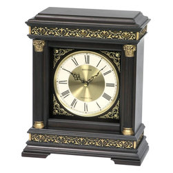 Rhythm - WSM Torino Wooden  Musical Mantel Clock - The WSM Torino is elegantly detailed and dressed in an Italian influenced design