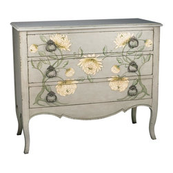 Sterling Lighting - Mum Accent Chest - Three drawers. Made from MDF and metal. 42 in. W x 18 in. D x 36 in. H