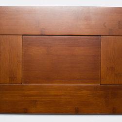 Gunstock Shaker Bamboo Kitchen Cabinets - Sample door from the Gunstock Shaker Bamboo Kitchen Cabinet line