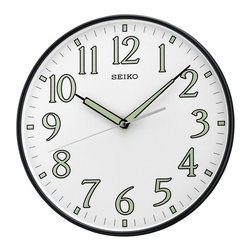 Seiko - Seiko QXA521KLH Wall Clock - 11.5 in. Multicolor - QXA521KLH - Shop for Clocks from Hayneedle.com! The Seiko 11.5 in. QXA521KLH Wall Clock can be used to accentuate any wall in your home. Its simple design allows it to easily blend into any style of decor. This clock features a sturdy metallic case quartz movement a plastic crystal and a quiet sweep second hand. The clock hands are luminous and point to luminous Arabic numerals that further add to its appeal. These luminous details make it functional in the dark.About SeikoOver its 120-year history as a maker of fine timepieces the Seiko name has become synonymous with cutting-edge technology ultra-precision constant innovation and refinement. Millions worldwide rely on Seiko wristwatches to keep them on schedule. Two generations have grown up thrilling to Olympic and World Cup competitions where victory or defeat is defined within a fraction of a second all overseen by Seiko timekeepers. Seiko's far-reaching modern empire has its roots in a humble Tokyo clock repair shop opened by Kintaro Hattori in 1881 nearly a century before the introduction of its first landmark wristwatch. Today Seiko continues to offer a wide array of clocks and movements for any home including wall alarm desk mantel musical and heirloom quality decorative pieces. Beautiful on the outside quality components on the inside Seiko products will serve you for years to come.