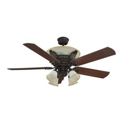 """Ellington Fans - Ellington Fans Palladian Classic Indoor 5 Blade 56"""" Ceiling Fan with Light Kit a - Ellington Fans Palladian Classic Indoor 5 Blade 56"""" Ceiling Fan with Light Kit and ControlsGive a touch of sophistication to your décor with the Palladian Ceiling Fan from the Classic Collection by Ellington Fans. The fan makes use of a wonderful Aged Bronze finish and a fantastic finish on the fan blades to add a style sure to draw complements.Sophistication, poise and elegance come in all shapes and sizes. Get carried away by Ellington Fans Classic Collection and find exactly what you're looking for among their unique masterpieces.Ellington Fans Palladian Features:"""