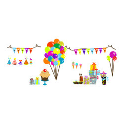 Pop & Lolli - Fabric Decals  Birthday Overlay - Deliciously sweet and mouthwatering nice, made from toffee treats & chocolate spice.