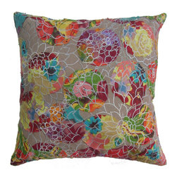 Barn & Willow - Aster Patch Pillow Cover - The earthy base with small doses of colors here and there makes this pillow a perfect match for any decor.