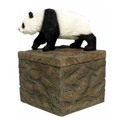 WL - 5 Inch Walking Panda Bear on Rock Box Collectible Candle Holder - This gorgeous 5 Inch Walking Panda Bear on Rock Box Collectible Candle Holder has the finest details and highest quality you will find anywhere! 5 Inch Walking Panda Bear on Rock Box Collectible Candle Holder is truly remarkable.