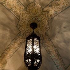 Mediterranean Powder Room by Maraya Interior Design