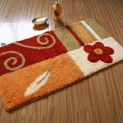 Colourful Flower Bathroom Door Mat - This rug features an attractive pattern that traps moisture and dirt. The Square layout design has a rich look and feel, and extraordinary texture offers warms, comfort, and versatility. The rear side of the product is covered by natural latex to prevent slipping. Suitable for your living room, bedroom, bathroom and the office. Machine washable and easy to clean. This stylish rug is sure to add a touch of whimsy to any room in your home.