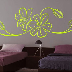 StickONmania - Flower Design #64 Sticker - A cool vinyl decal wall art decoration for your home  Decorate your home with original vinyl decals made to order in our shop located in the USA. We only use the best equipment and materials to guarantee the everlasting quality of each vinyl sticker. Our original wall art design stickers are easy to apply on most flat surfaces, including slightly textured walls, windows, mirrors, or any smooth surface. Some wall decals may come in multiple pieces due to the size of the design, different sizes of most of our vinyl stickers are available, please message us for a quote. Interior wall decor stickers come with a MATTE finish that is easier to remove from painted surfaces but Exterior stickers for cars,  bathrooms and refrigerators come with a stickier GLOSSY finish that can also be used for exterior purposes. We DO NOT recommend using glossy finish stickers on walls. All of our Vinyl wall decals are removable but not re-positionable, simply peel and stick, no glue or chemicals needed. Our decals always come with instructions and if you order from Houzz we will always add a small thank you gift.