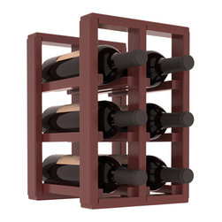 Wine Racks America® - 6 Bottle Counter Top/Pantry Wine Rack in Redwood, Cherry Stain + Satin Finish - These counter top wine racks are ideal for any pantry or kitchen setting.  These wine racks are also great for maximizing odd-sized/unused storage space.  They are available in furniture grade Ponderosa Pine, or Premium Redwood along with optional 6 stains and satin finish.  With 1-10 columns available, these racks will accommodate most any space!!