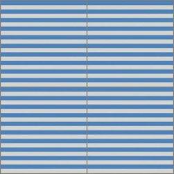 Granada Tile - Tile Sample Boston 81 A - The Boston blue and white stripes evoke a carefree day at the sea.