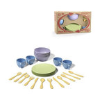 Green Toys - Green Toys Dish Set - With the Green Toys Dish Set, you can let your kids enjoy pretend play with plastic toys completely guilt,free! .