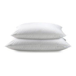 Real Simple - Real Simple  100% Cotton White Down Pillow - This comfortable pillow from Real Simple has a 600 fill power of premium white down and provides medium support. The corded edges provide additional support.