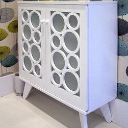 Contemporary Bath Cabinet - Maple, MDF. 32″H x 28″W x 12″D.