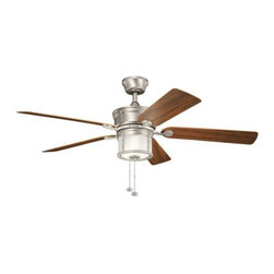 "Kichler - Kichler 310105NI Deckard 52"" Indoor Ceiling Fan 5 Blades - Light Kit - Included Components:"