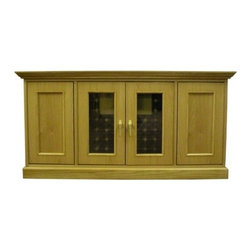 Vinotemp - VINO-400TDTDG 400-Model Wine Cabinet With 2 Glass Doors  2 Insulated Doors  Redw - Vinotemp wine cabinets are complete wine storage solutions handcrafted with domestic woods in Southern California