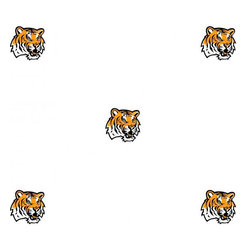 Trademarx Wall Decor - NCAA Louisiana State Tigers LSU Logo Double Wallpaper Roll - Features: