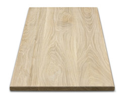 Classic Designs VT - Rectangular Wood Table Tops, White Oak - Rectangular wood table top made from solid white oak. Square edging. 36 X 60 inches and 1 inch thickness. Fine sanded and ready for your finish to be applied. Handcrafted, made to order in Vermont. Free shipping to the lower 48 states. Pictured table top is in white oak wood.