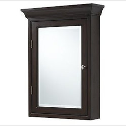 Hotel Medicine Cabinet, Extra-Large, Wall-Mounted, Espresso stain - Bring fine spa quality and ...