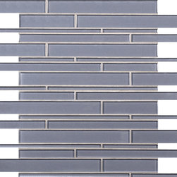 Artistic Tile Puccini Purple Stilato Linear Mosaic - Versatile, contemporary and timeless: Opera Glass offers ultimate design flexibility. Clear float glass, with color applied to the back, in large and small formats, full spectrum of colors, satin and gloss finishes, and wide selection of shapes allow for endless pairing possibilities. Its versatility is unrivaled. Modern and classic, mysterious and inviting, Opera Glass is fresh and elegant.
