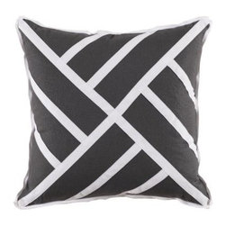 Chinese Chippendale Pillow - Grey Linen - Clayton Gray Home -