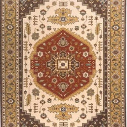 Momeni - Persian Garden Cocoa Rectangular: 5 Ft. x 8 Ft. Rug - Persian-inspired patterns in 100% New Zealand wool with hand-serged finishing. Momeni - PERGAPG-03COO5080