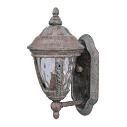 Maxim Lighting - Whittier Outdoor Wall Sconce by Maxim Lighting - The Maxim Lighting Whittier Outdoor Wall Sconce creates a lavish illumination in a traditional design that adds a rich texture to the exterior wallscape. The Whittier Outdoor Wall Sconce features Cast Aluminum body, Water glass and Earth Tone finish. Maxim Lighting, headquartered in California, offers high-quality lighting fixtures in a variety of designs, finishes, and glass styles that complement contemporary and transitional interiors.