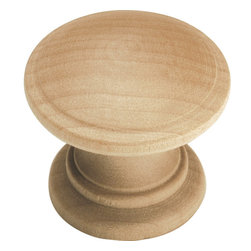 Hickory Hardware - Natural Woodcraft Unfinished Wood Cabinet Knob - Bridges contemporary and traditional design.  Offering a deep rooted sense of history in some, with an updated feel and cleaner lines.