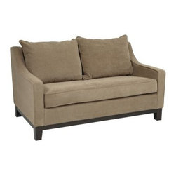Office Star Regent Love Seat - Easy Brownstone - Bring a classic style to any home or office decor with the Office Star Regent Loveseat in Easy Brownstone. It features high-performance easy-care fabric upholstery and Dacron-wrapped foam cushions for outstanding comfort and durability. The espresso finish on the trim and legs completes the warm and inviting look of a chair that will blend seamlessly into a variety of decor settings.Office Star Products is engaged in the fabrication, importation, and distribution of an extensive range of quality office seating and home furnishing products. Since 1979, the company has developed a distinguished reputation for high quality, value, and outstanding customer service. With a wide variety of product lines, Office Star Products sells furnishings in the largest retail and wholesale chains and through hundreds of regional independent home furnishings dealers.