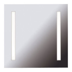Kenroy - Kenroy 90830 Rifletta Contemporary Vanity Mirror - Lights and a mirror in one, Rifletta sits flush with just a 2 inch extension from the wall offering maximum surface in minimal space.  Contemporary and brilliantly lit, this functional design element is available in 3 sleek configurations.