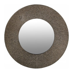 Privilege - Privilege Large Round Metal Beveled Mirror - Enhance the natural lighting in your home and add a pop of contemporary style to your home decor with this round mirror. Made of quality beveled glass, this mirror features a rounded metal frame that will blend with nearly any home decor.
