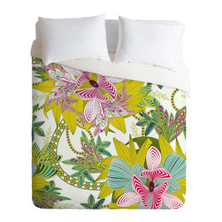 DENY Designs - Sabine Reinhart Life Is Music Duvet Cover - Turn your basic, boring down comforter into the super stylish focal point of your bedroom. Our Luxe Duvet is made from a heavy-weight luxurious woven polyester with a 50% cotton/50% polyester cream bottom. It also includes a hidden zipper with interior corner ties to secure your comforter. it's comfy, fade-resistant, and custom printed for each and every customer.