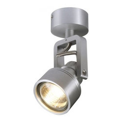 """SLV Lighting - SLV Lighting Inda Spot GU10 Spot Light - The Inda Spot GU10 spot light was designed in Germany. Suitable for residential and commercial applications. Can be ceiling or wall mounted - low power consumption. Multi directional lamp head - rotation and tilt of 350 degree. Unit includes canopy.  Product Details: The Inda Spot GU10 spot light was designed in Germany. Suitable for residential and commercial applications. Can be ceiling or wall mounted - low power consumption. Multi directional lamp head - rotation and tilt of 350 degree. Unit includes canopy. Details:                                                                                                                                                                       Dimensions:                                     Height Max: 6.2"""" (15.74 cm) X Width: canopy 4.5"""" (11.43 cm)                                                     Light bulb:                                     1 X 50W max. GU10 halogen (excl.)                                                     Material:                                     Aluminum                         ETL - listed certified for use in U.S., Canada and all other countries worldwide."""