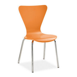 Little Jake Chairs - Modern chairs for your kids are cute! This one comes in tangerine, aqua, celery and white.